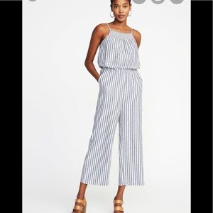 Old Navy Striped Jumpsuit NWT size Large